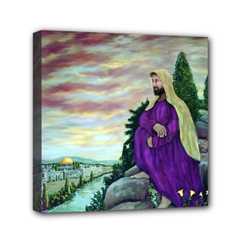 Jesus Overlooking Jerusalem   Ave Hurley   Artrave   Mini Canvas 6  X 6  (framed) by ArtRave2