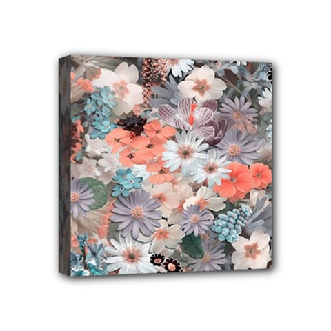 Spring Flowers Mini Canvas 4  X 4  (framed) by ImpressiveMoments