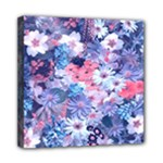 Spring Flowers Blue Mini Canvas 8  x 8  (Framed)