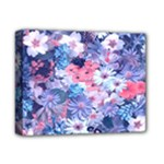 Spring Flowers Blue Deluxe Canvas 14  x 11  (Framed)