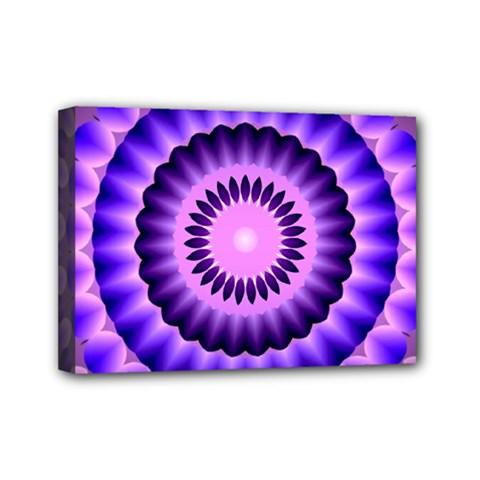 Mandala Mini Canvas 7  X 5  (framed)