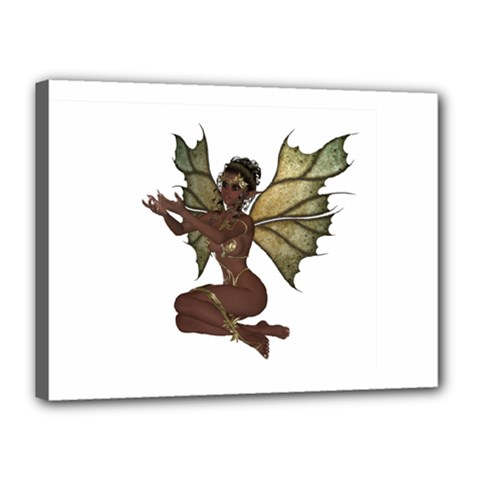Faerie Nymph Fairy With Outreaching Hands Canvas 16  X 12  (framed) by goldenjackal