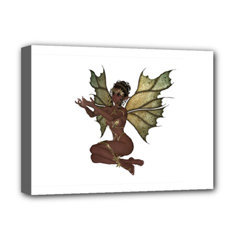 Faerie Nymph Fairy With Outreaching Hands Deluxe Canvas 16  X 12  (framed)  by goldenjackal