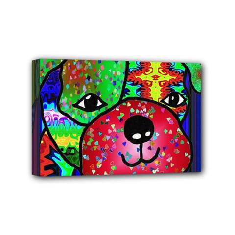 Pug Mini Canvas 6  X 4  (framed) by Siebenhuehner