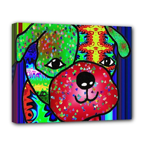 Pug Deluxe Canvas 20  X 16  (framed) by Siebenhuehner