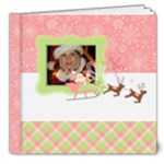 Pink Merry-Holiday-Christmas-Photo Book 8x8 Deluxe - 8x8 Deluxe Photo Book (20 pages)