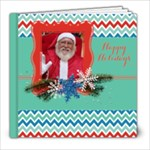 Chevron Christmas- Holiday-Photo Book 8x8 - 8x8 Photo Book (20 pages)