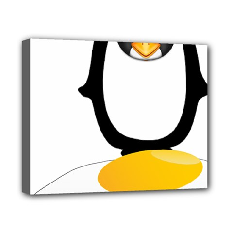 Linux Tux Pengion Oops Canvas 10  X 8  (framed) by youshidesign
