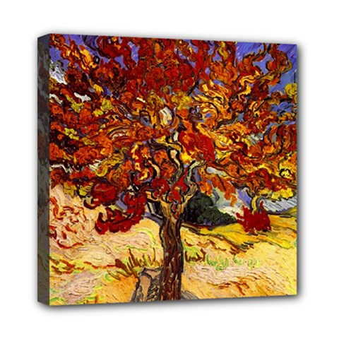 Vincent Van Gogh Mulberry Tree Mini Canvas 8  X 8  (framed) by MasterpiecesOfArt