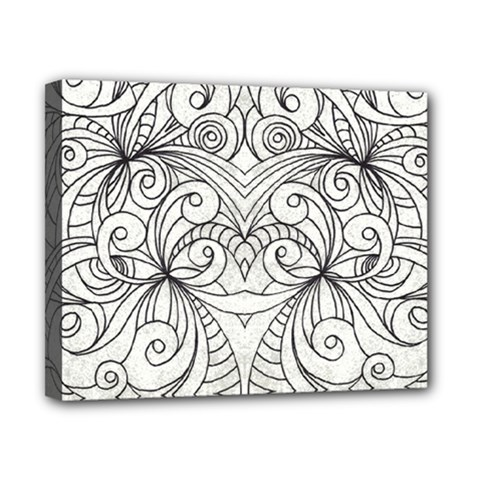Drawing Floral Doodle 1 Canvas 10  X 8  (framed) by MedusArt