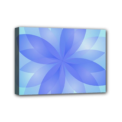 Abstract Lotus Flower 1 Mini Canvas 7  X 5  (framed) by MedusArt