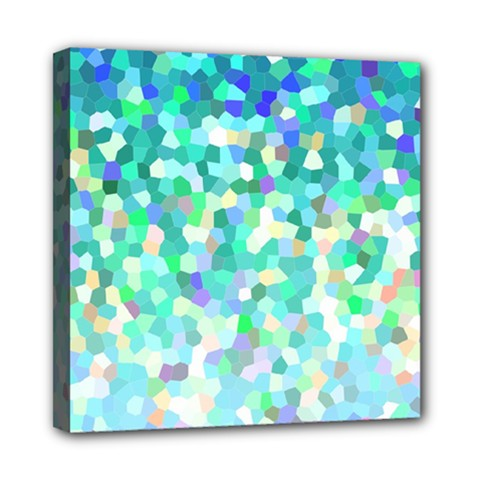 Mosaic Sparkley 1 Mini Canvas 8  X 8  (framed) by MedusArt
