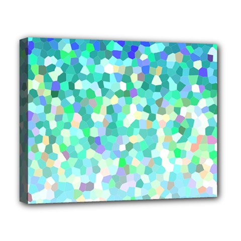 Mosaic Sparkley 1 Deluxe Canvas 20  X 16  (framed) by MedusArt