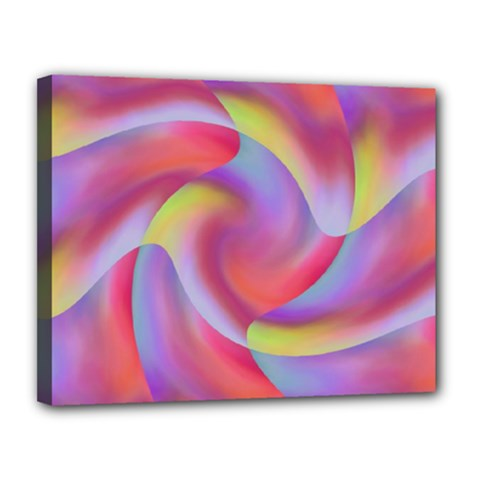 Colored Swirls Canvas 14  X 11  (framed) by Colorfulart23