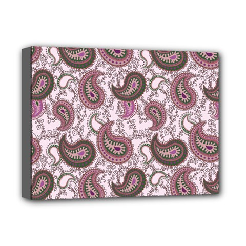 Paisley In Pink Deluxe Canvas 16  X 12  (framed)  by StuffOrSomething