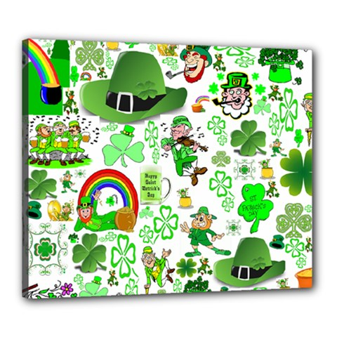 St Patrick s Day Collage Canvas 24  X 20  (framed) by StuffOrSomething