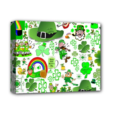 St Patrick s Day Collage Deluxe Canvas 14  X 11  (framed) by StuffOrSomething