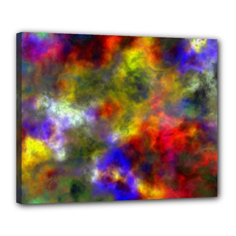 Deep Watercolors Canvas 20  X 16  (framed) by Colorfulart23