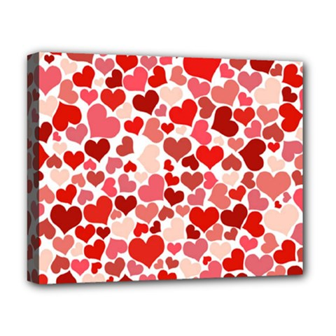 Pretty Hearts  Deluxe Canvas 20  X 16  (framed) by Colorfulart23