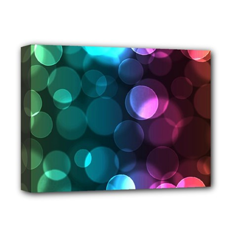 Deep Bubble Art Deluxe Canvas 16  X 12  (framed)  by Colorfulart23