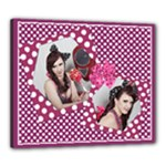 My Pretty in Pink Canvas 24x20 (stretched) - Canvas 24  x 20  (Stretched)