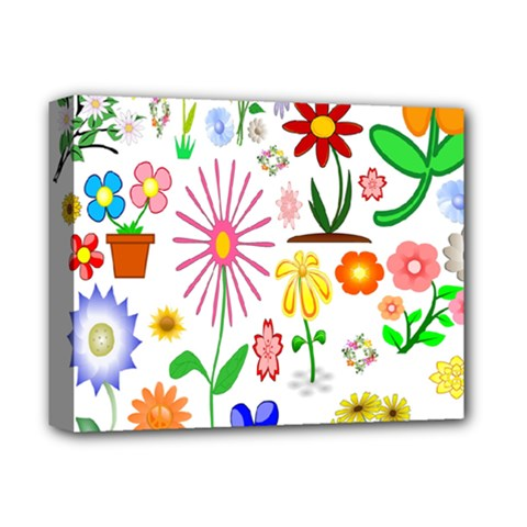 Summer Florals Deluxe Canvas 14  X 11  (framed) by StuffOrSomething