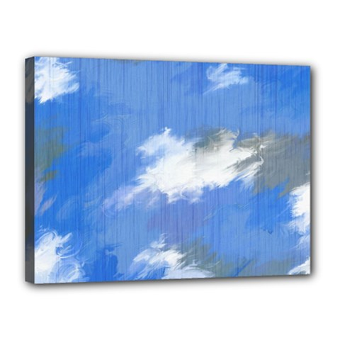 Abstract Clouds Canvas 16  X 12  (framed) by StuffOrSomething