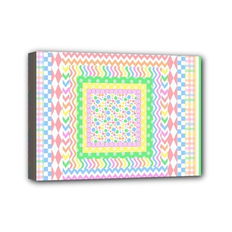 Layered Pastels Mini Canvas 7  X 5  (framed) by StuffOrSomething