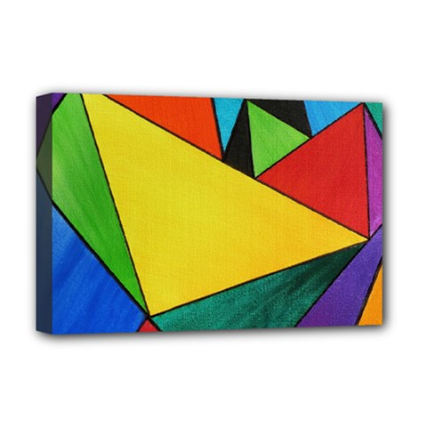 Abstract Deluxe Canvas 18  X 12  (framed) by Siebenhuehner