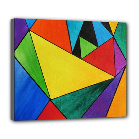 Abstract Deluxe Canvas 24  X 20  (framed) by Siebenhuehner