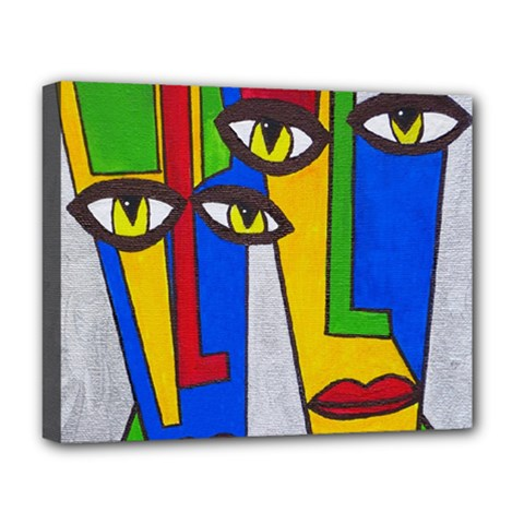 Face Deluxe Canvas 20  X 16  (framed) by Siebenhuehner
