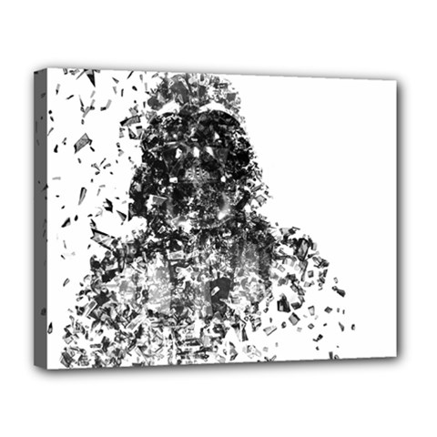 Darth Vader Canvas 14  x 11  (Framed) by malobishop