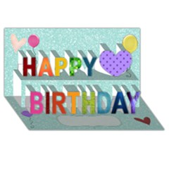 Birthday Happy Birthday 3d Greeting Card (8x4) by awesomeasniftydesigns