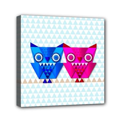 Owligami Mini Canvas 6  X 6  (stretched) by doodlelabel