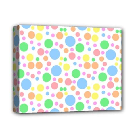 Pastel Bubbles Deluxe Canvas 14  X 11  (framed) by StuffOrSomething
