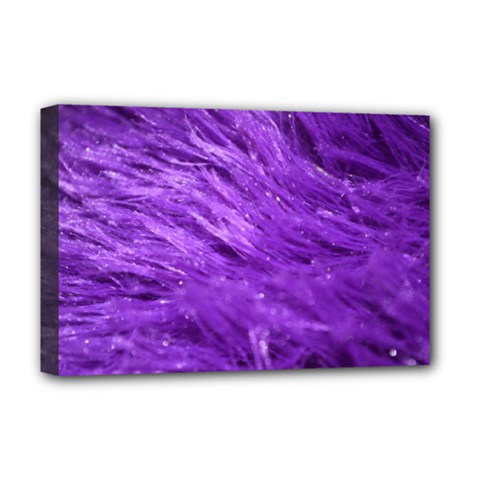 Purple Tresses Deluxe Canvas 18  X 12  (framed) by FunWithFibro