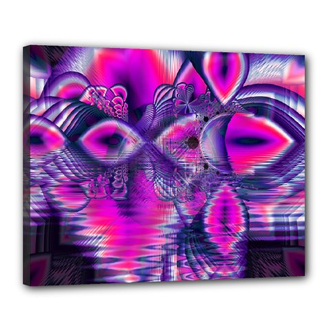 Rose Crystal Palace, Abstract Love Dream  Canvas 20  X 16  (framed) by DianeClancy