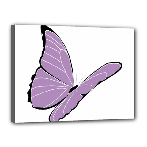 Purple Awareness Butterfly 2 Canvas 16  X 12  (framed) by FunWithFibro