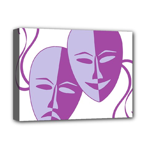Comedy & Tragedy Of Chronic Pain Deluxe Canvas 16  X 12  (framed)  by FunWithFibro