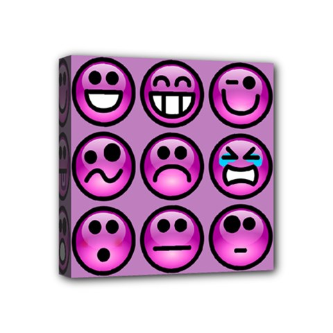 Chronic Pain Emoticons Mini Canvas 4  X 4  (framed) by FunWithFibro