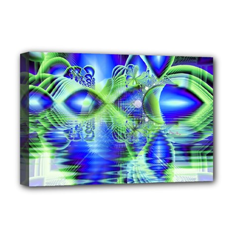 Irish Dream Under Abstract Cobalt Blue Skies Deluxe Canvas 18  X 12  (framed) by DianeClancy