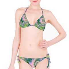 Rose Apple Green Dreams, Abstract Water Garden Bikini by DianeClancy