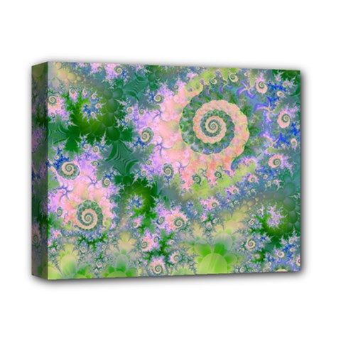Rose Apple Green Dreams, Abstract Water Garden Deluxe Canvas 14  X 11  (framed) by DianeClancy