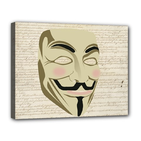 We The Anonymous People Canvas 14  x 11  (Framed) by StuffOrSomething