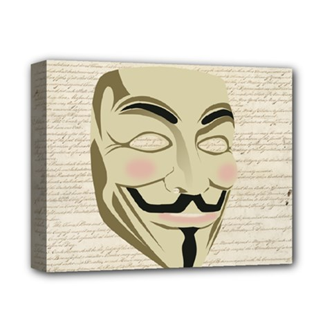 We The Anonymous People Deluxe Canvas 14  X 11  (framed) by StuffOrSomething