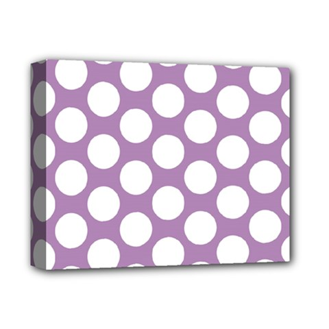 Lilac Polkadot Deluxe Canvas 14  X 11  (framed) by Zandiepants