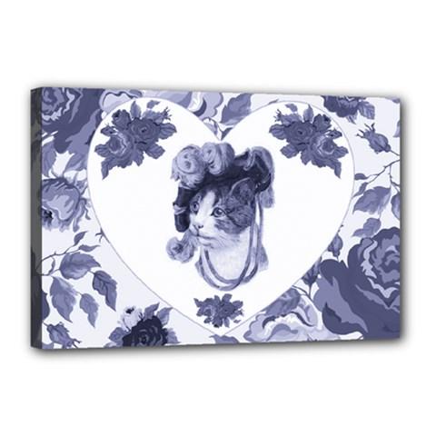 MISS KITTY Canvas 18  x 12  (Framed)