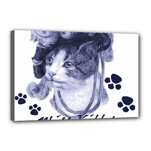 Miss Kitty Blues Canvas 18  X 12  (framed) by misskittys