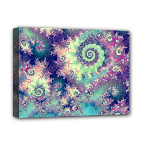 Violet Teal Sea Shells, Abstract Underwater Forest Deluxe Canvas 16  X 12  (stretched)  by DianeClancy