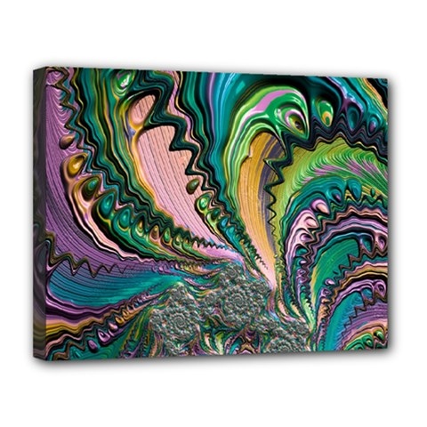 Special Fractal 02 Purple Canvas 14  x 11  (Framed) by ImpressiveMoments